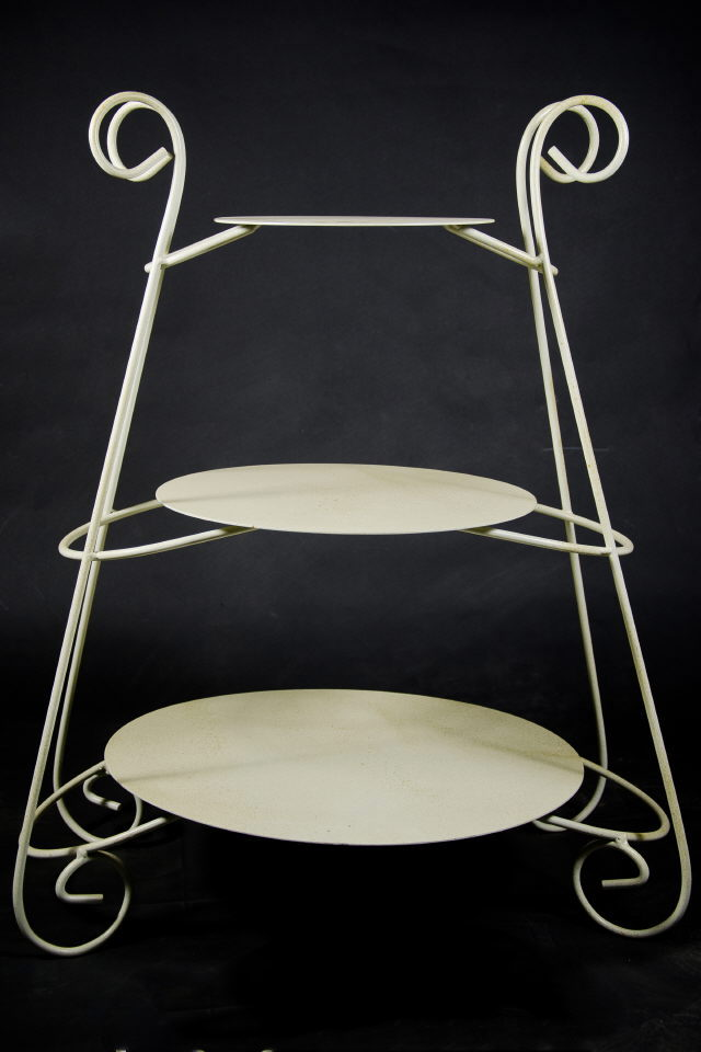 Where to find Cake Stand, Ivory Gold 1 Piece 3 Layer in Saskatoon