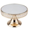 Rental store for Cake Stand, 8  Gold Pedestal Mirror Top in Saskatoon SK